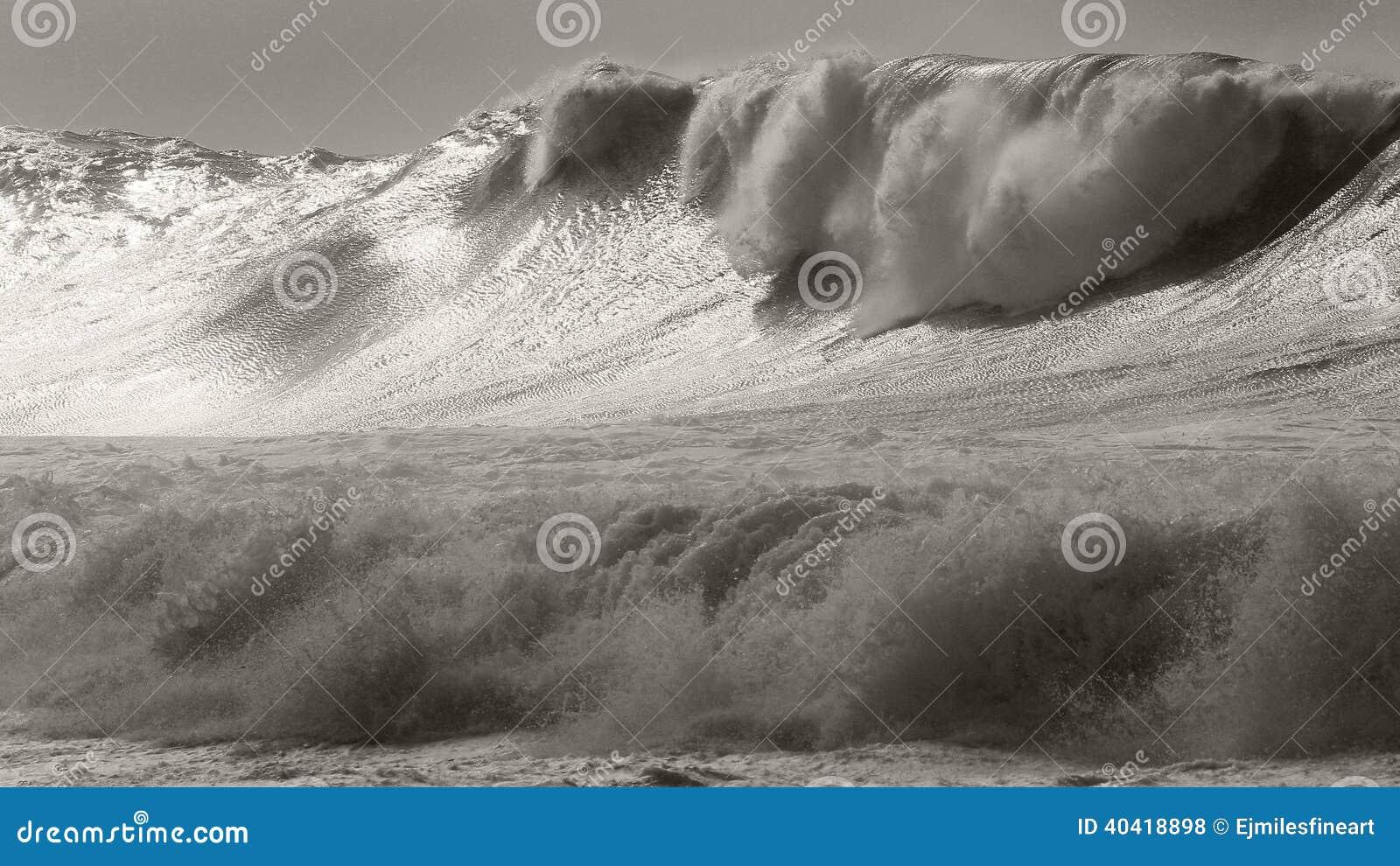 Ressac massif de tempête de Waimea