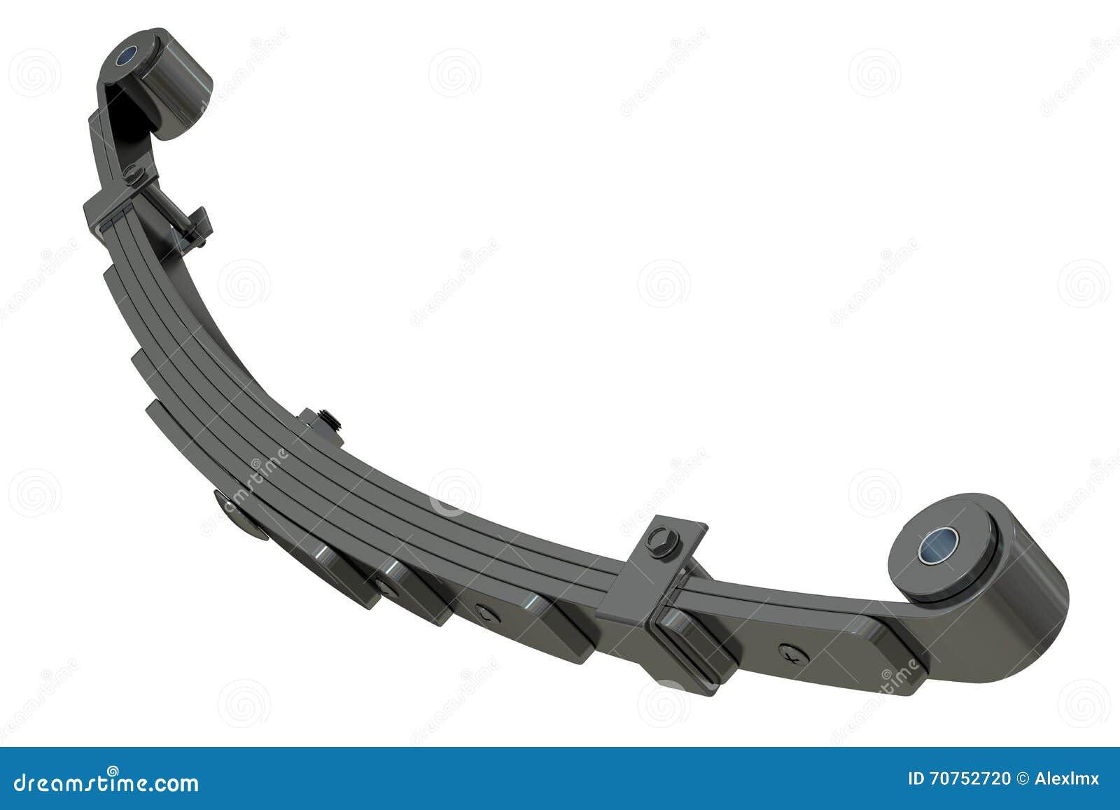 ressort lame suspension rendu 3d illustration stock image 70752720. Black Bedroom Furniture Sets. Home Design Ideas