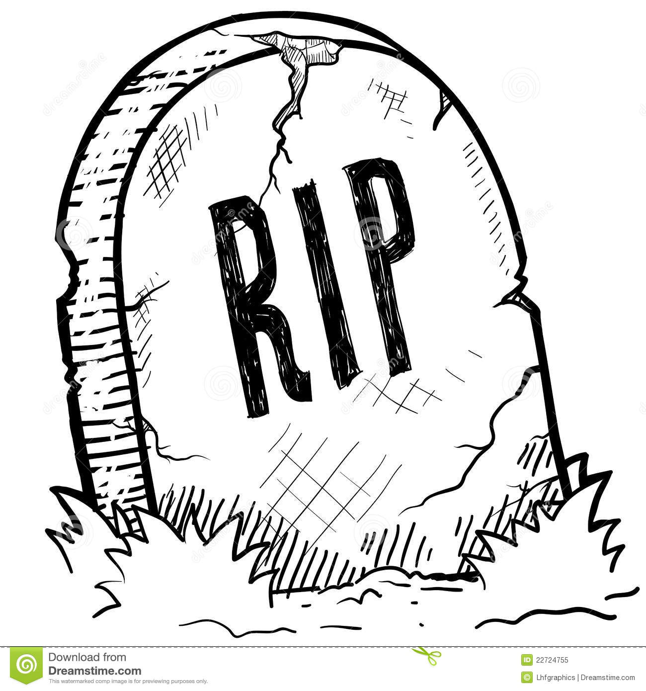 rest in peace grave sketch stock vector illustration of 50th Birthday Tombstone Clip Art Animated Cartoon Tombstones