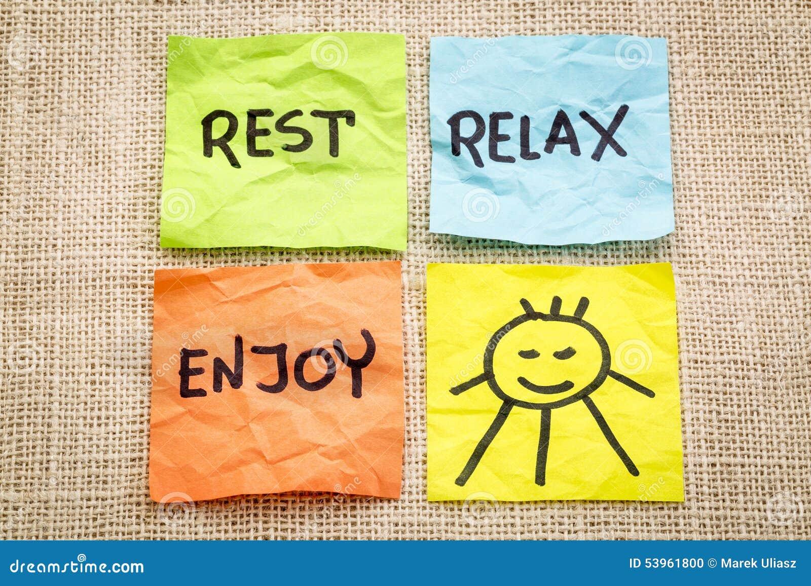 Resultado de imagen para rest and relax