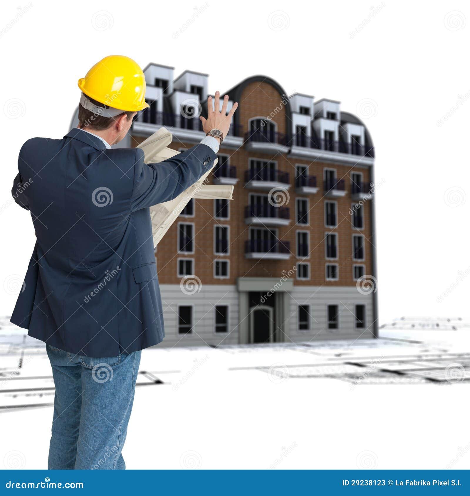Download Restauração Urbana Velha Da Construção Imagem de Stock - Imagem de hardhat, cidade: 29238123