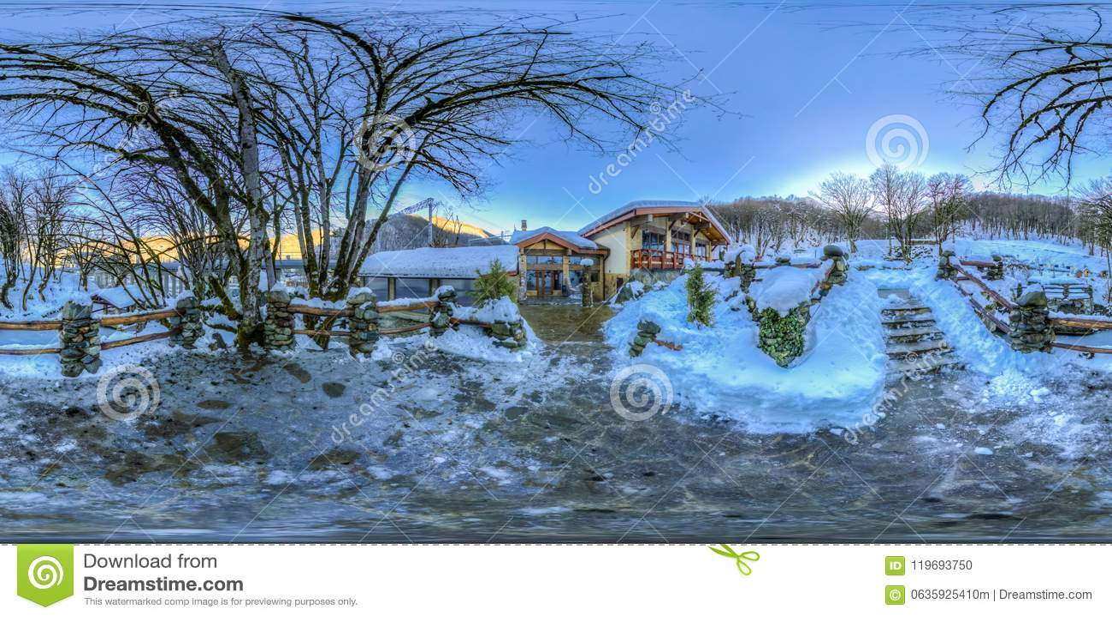 Restauracja w górach Sochi Krasnaya Polyana Rosa Khutor