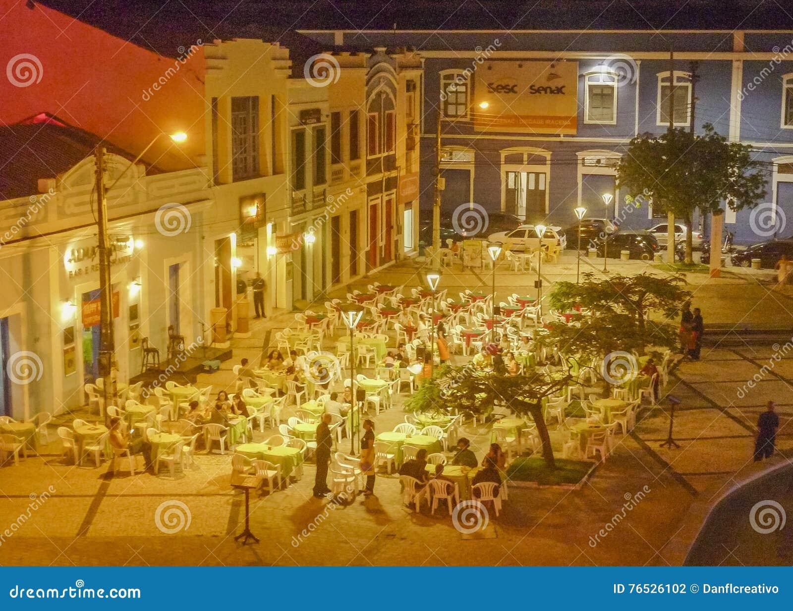 Restauracje przy Historycznym Centrum Fortaleza Brazylia