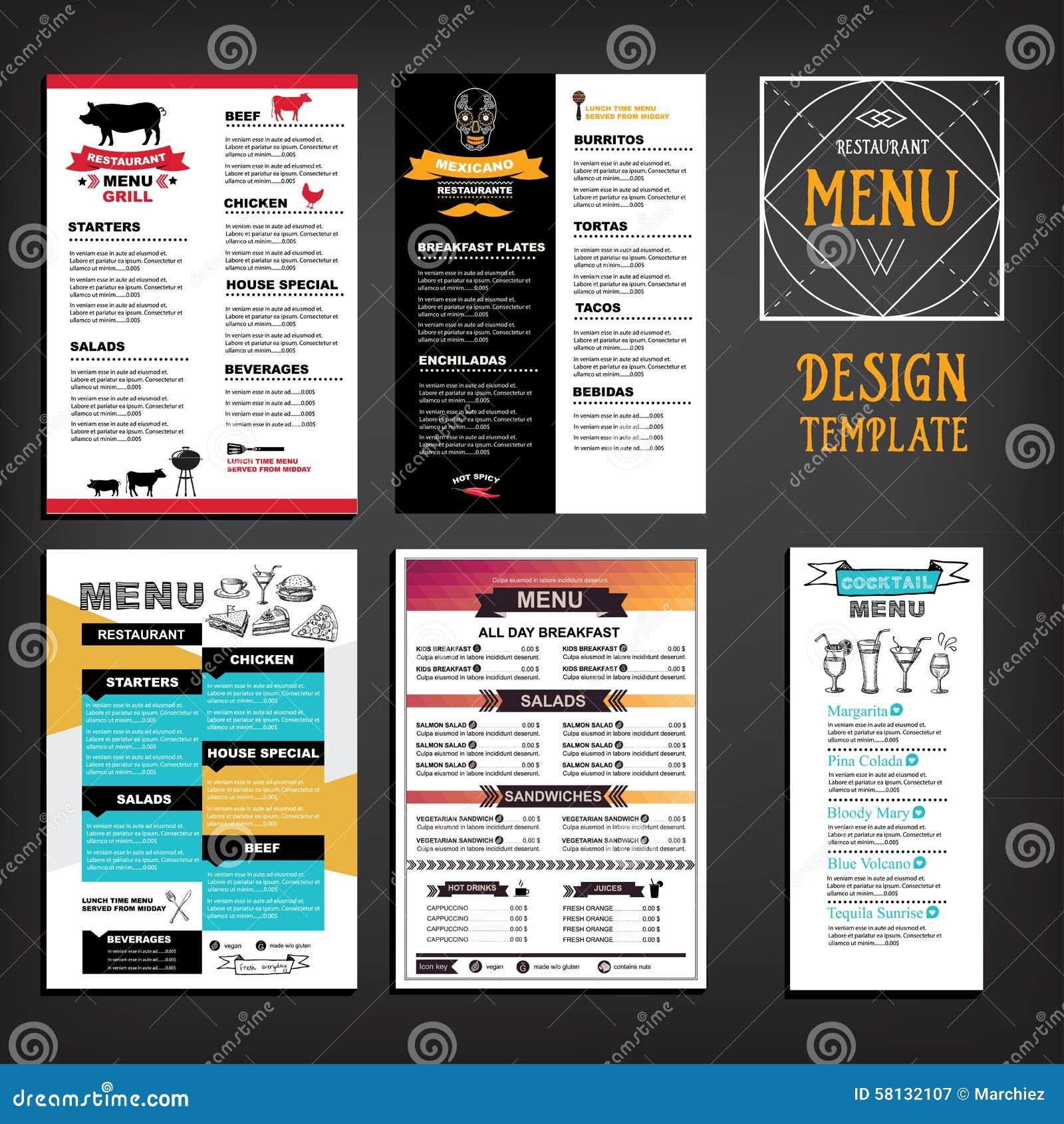 Restauracyjny cukierniany menu, szablonu projekt Karmowa ulotka