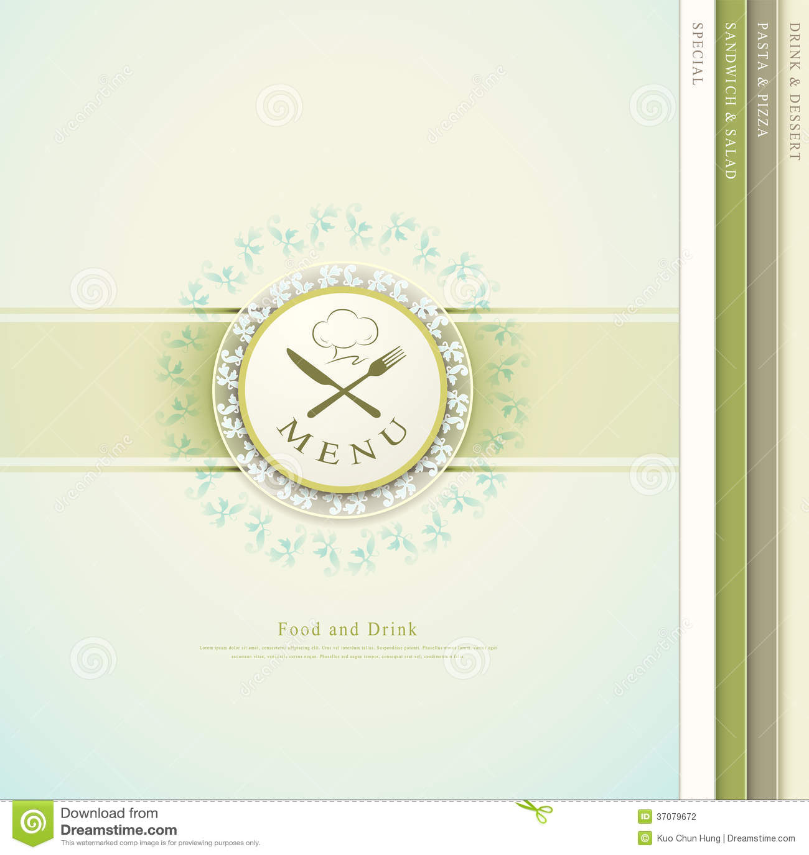 Download Restauracyjny menu ilustracja wektor. Ilustracja złożonej z świeży - 37079672