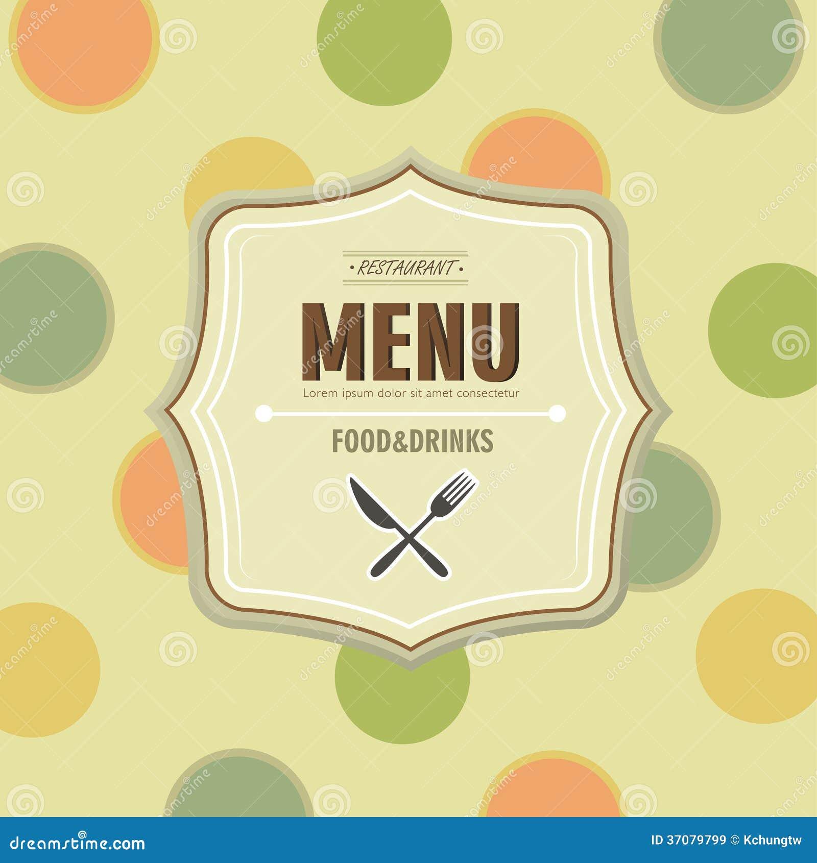 Download Restauracyjny menu ilustracja wektor. Ilustracja złożonej z lunch - 37079799