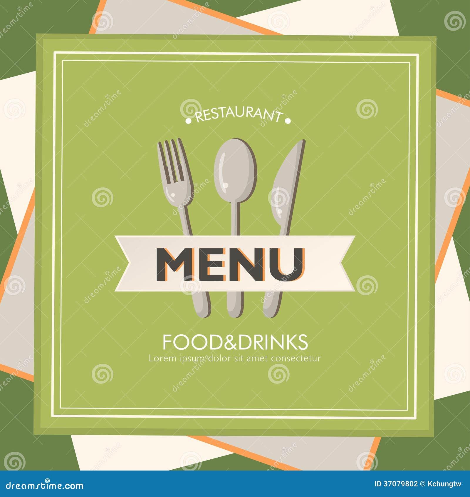 Download Restauracyjny menu ilustracja wektor. Ilustracja złożonej z kardamon - 37079802