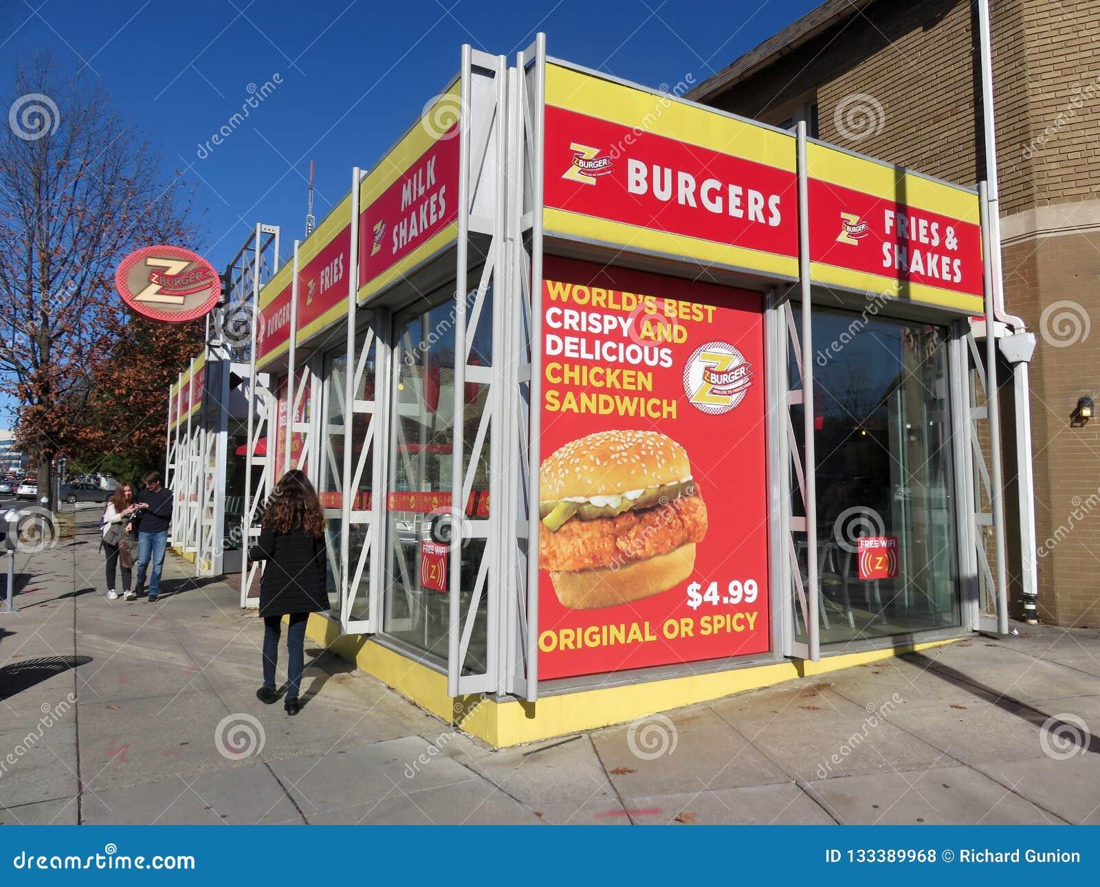 Restaurang för z-hamburgaresnabbmat i Tenleytown