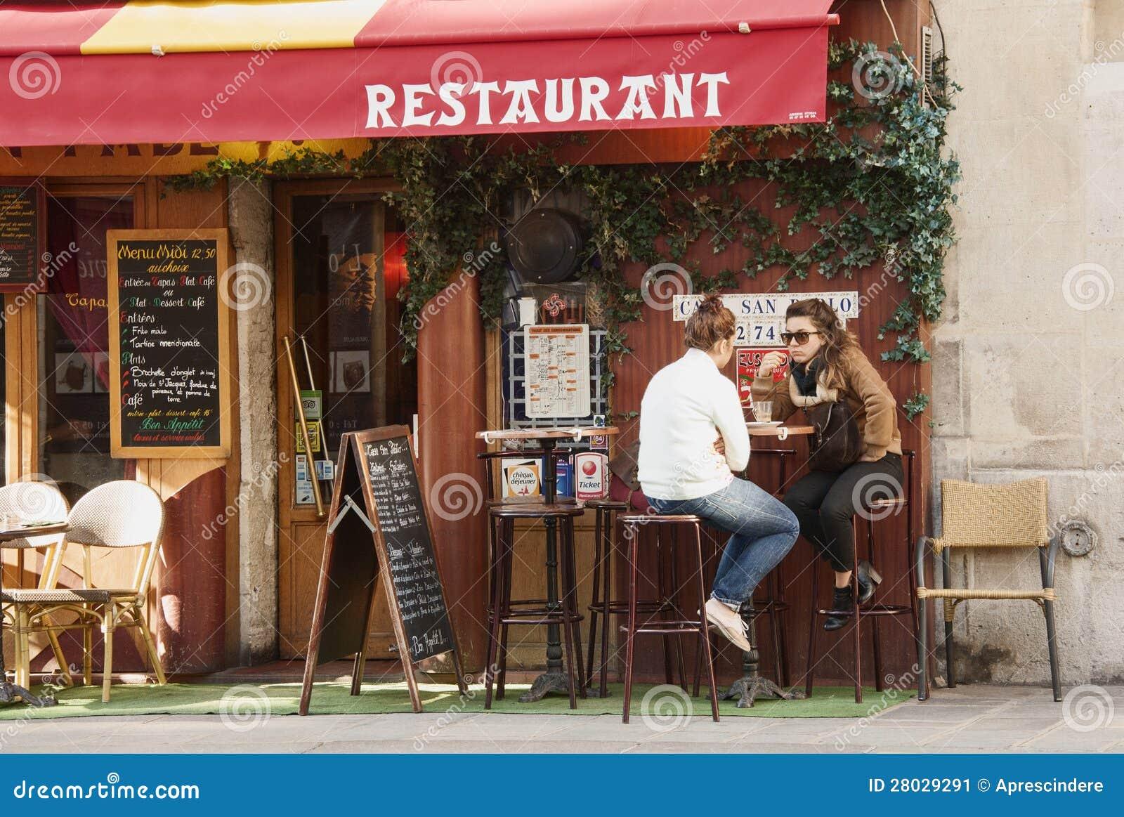 Restaurang i Paris
