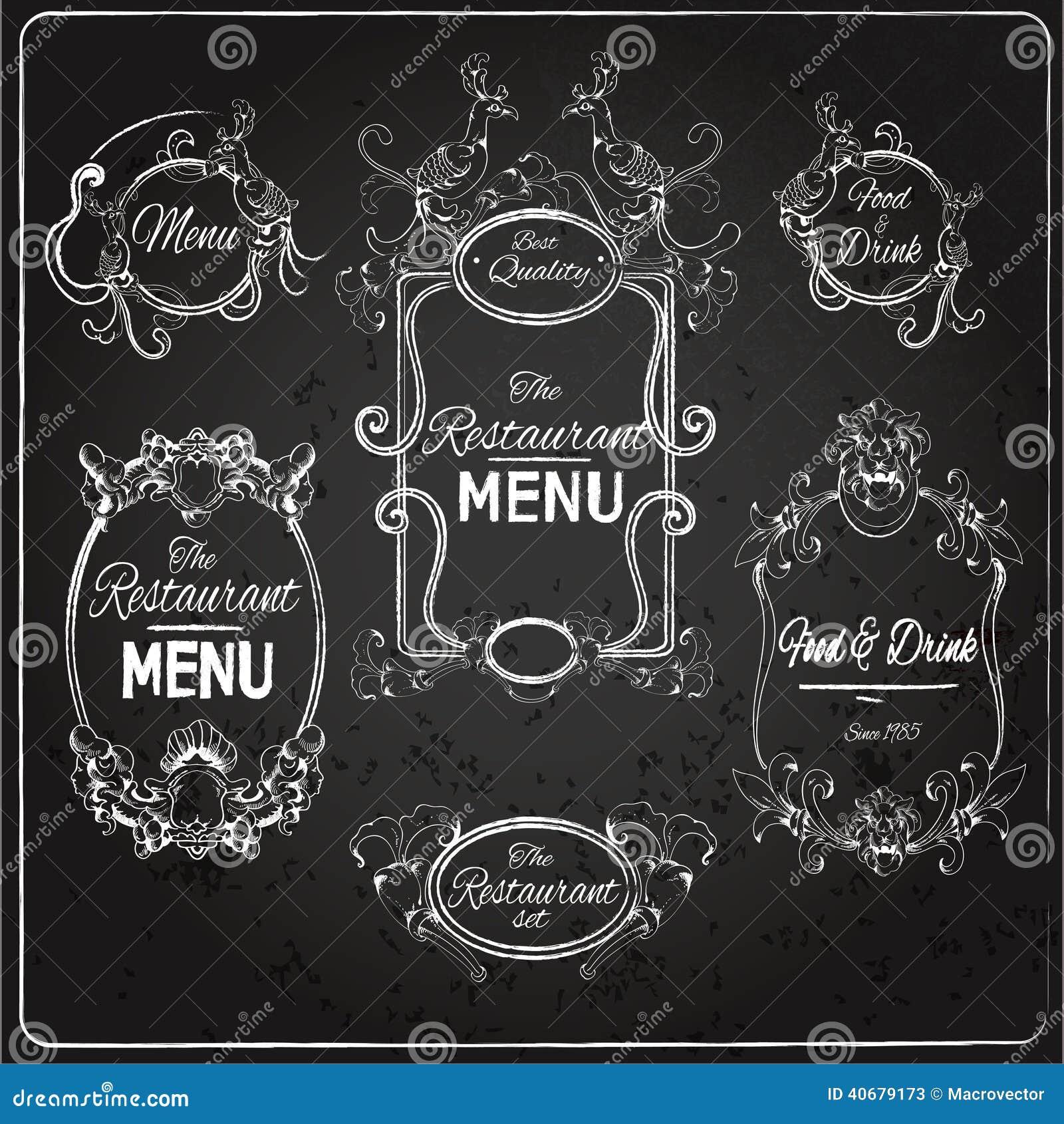 restaurant beschriftet tafel vektor abbildung bild 40679173. Black Bedroom Furniture Sets. Home Design Ideas