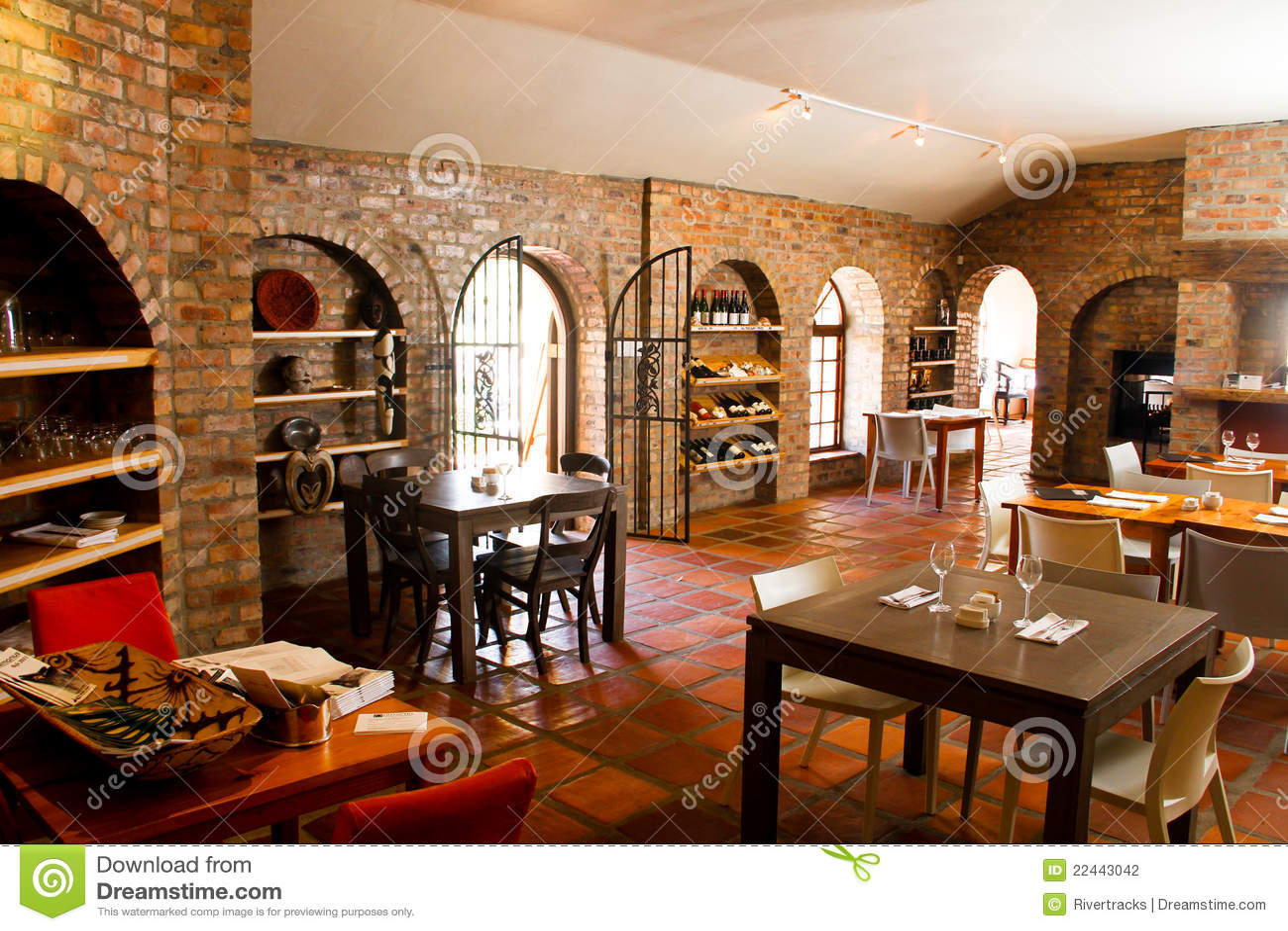 Restaurant bistro interior stock photo image of