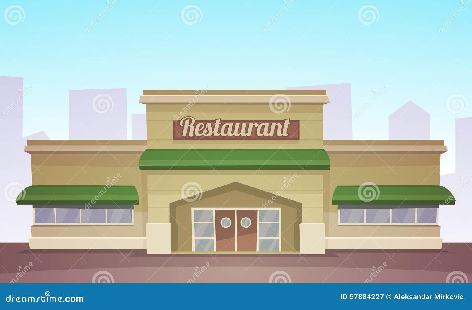 Cartoon restaurant free vector graphic download - Royalty Free Vector Building Cartoon Illustration Restaurant