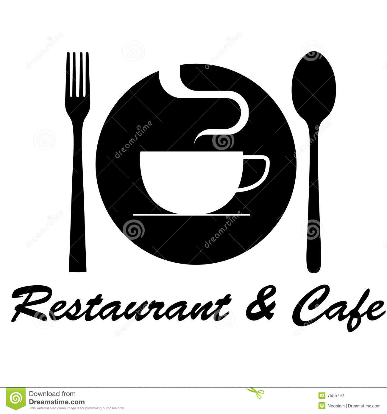 Restaurant amp Cafe Logo Stock Vector Image Of Coffee