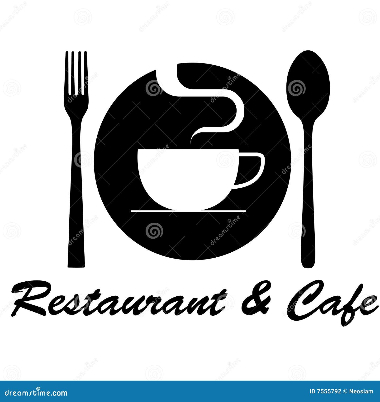 Restaurant amp Cafe Logo Stock Photography Image 7555792