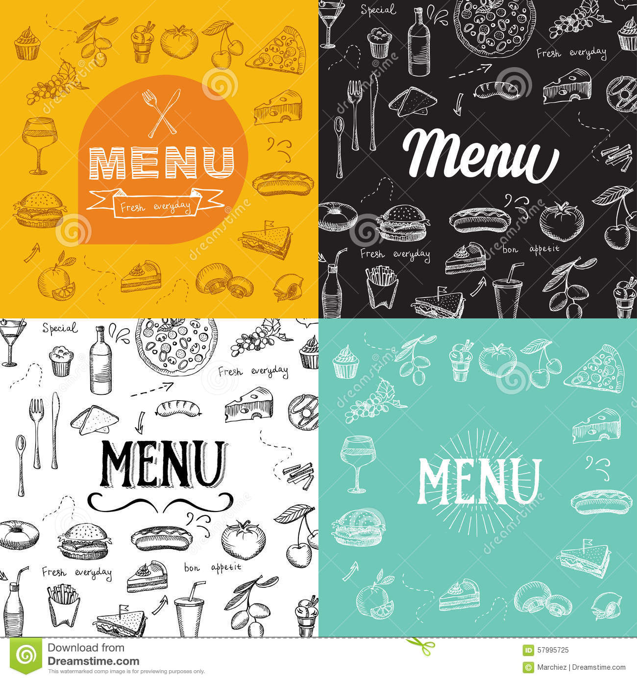 Restaurant Design Graphic : Restaurant cafe menu template design food flyer stock