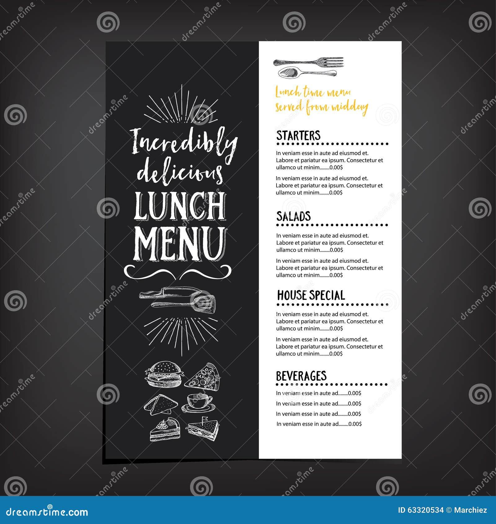 restaurant flyer design template .