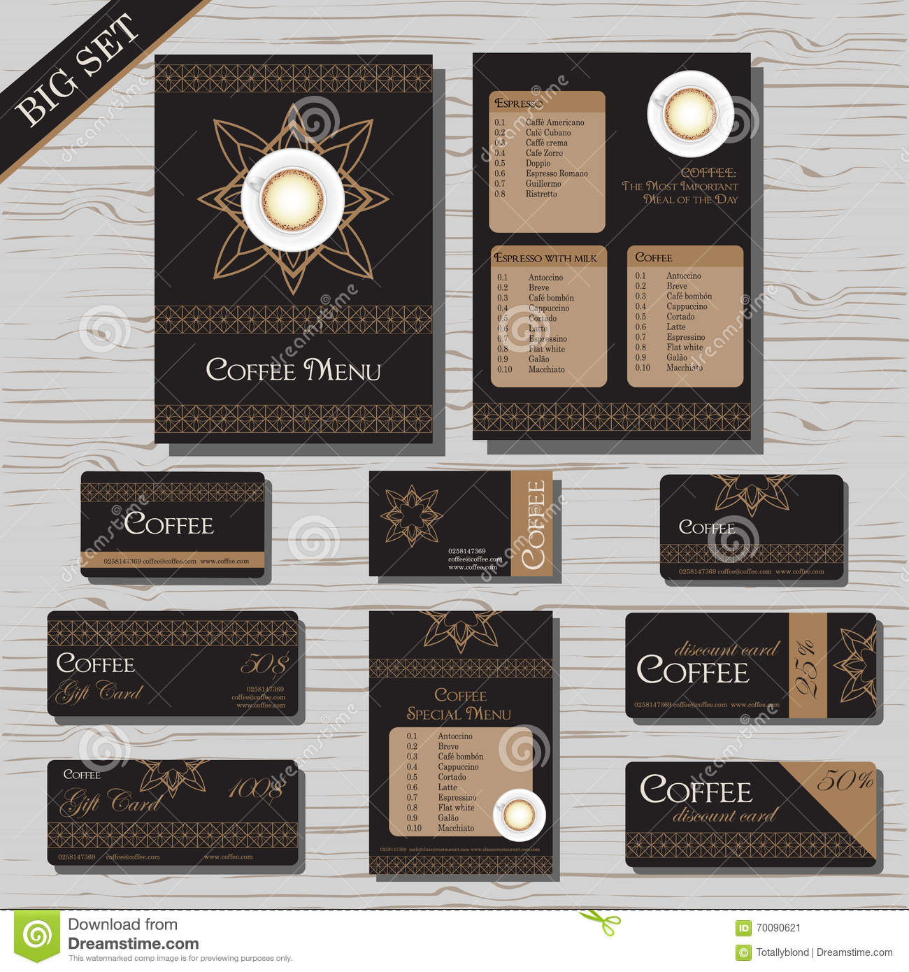 Restaurant cafe menu template set stock vector illustration of download restaurant cafe menu template set stock vector illustration of business cafe 70090621 download comp reheart Image collections