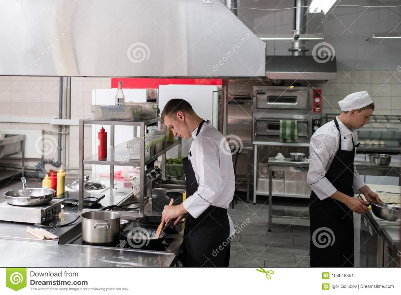 Restaurant Chef Lifestyle Work Kitchen Cook Stock Image Image Of Food People 108648351