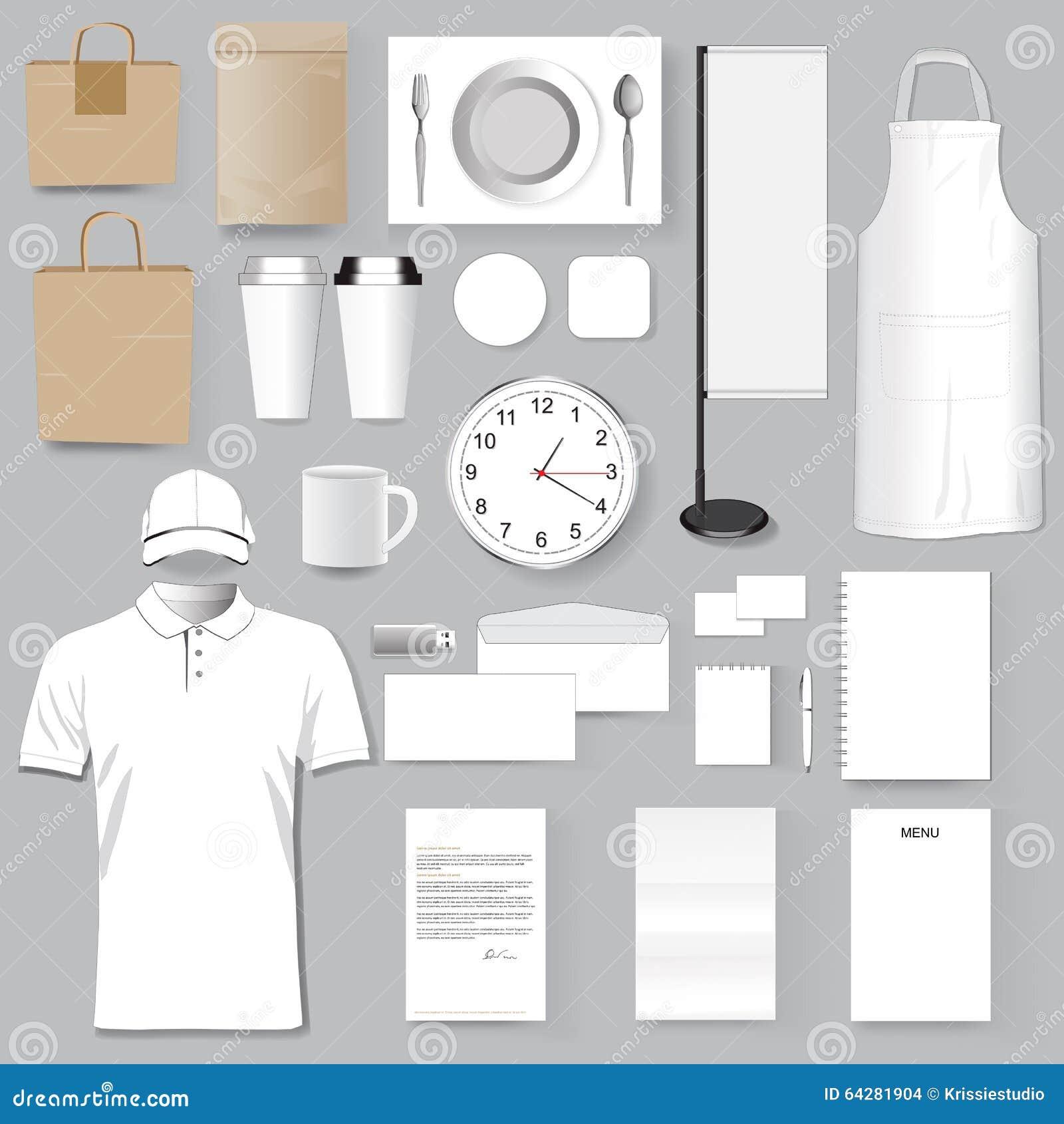 restaurant corporate branding identity template design set Shirt Template polo shirt vector 3d