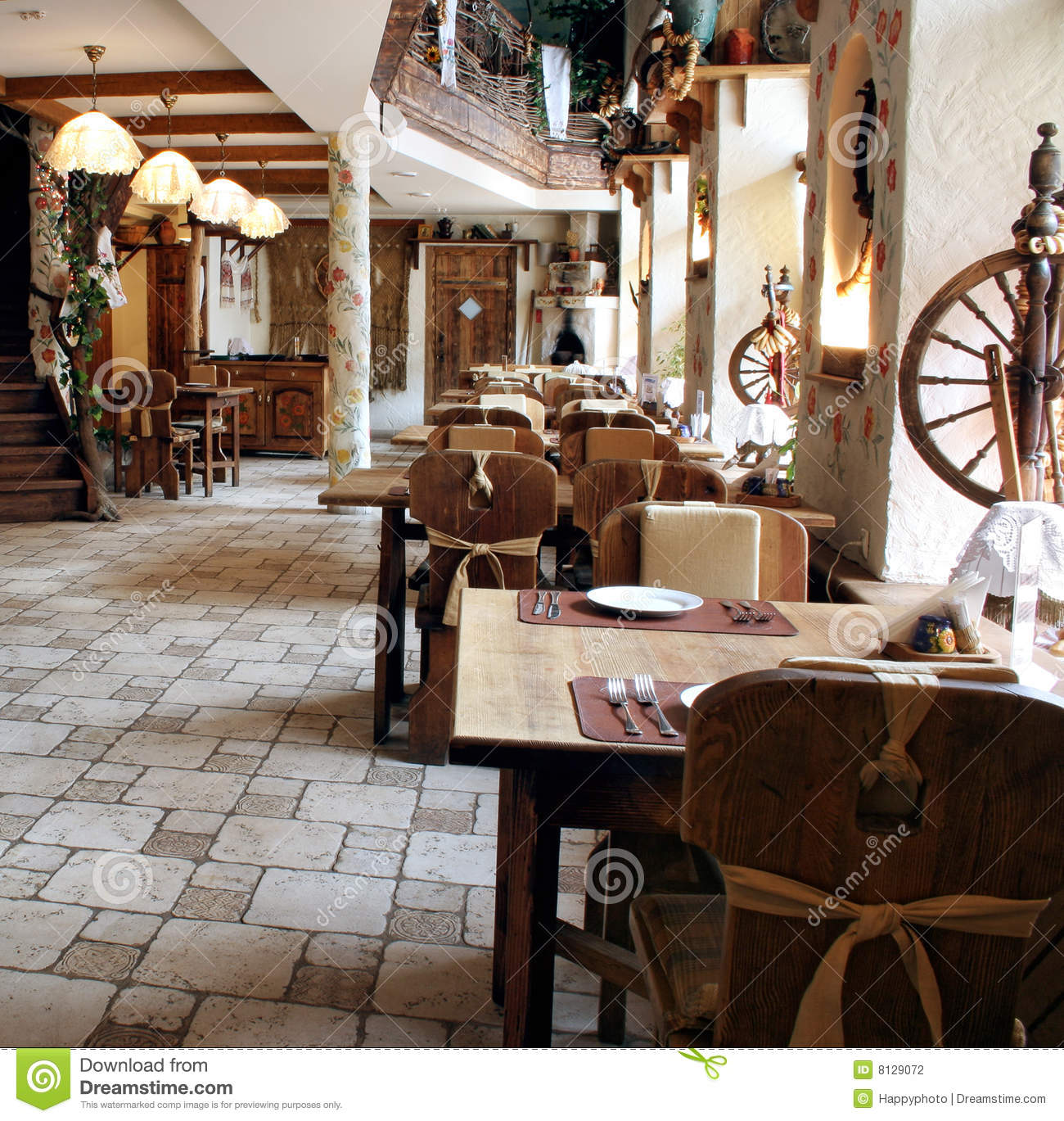 Restaurant In Country Style Stock Photo Image 8129072