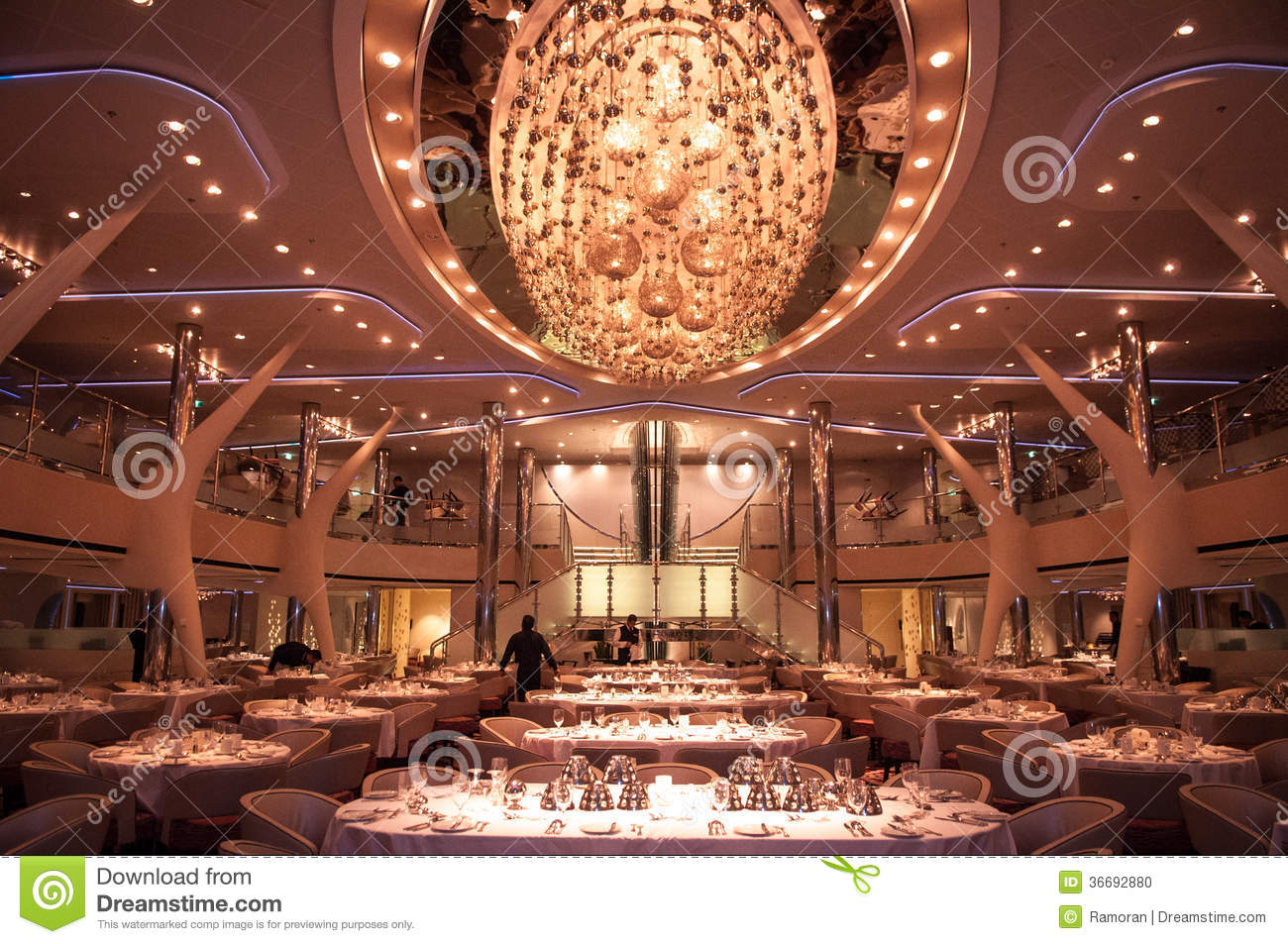 Restaurant On Cruise Ship Stock Photo Image 36692880