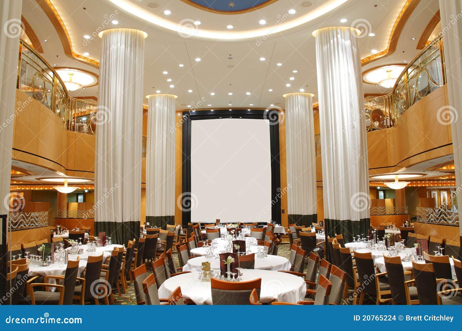 Restaurant de luxe vide image stock éditorial du