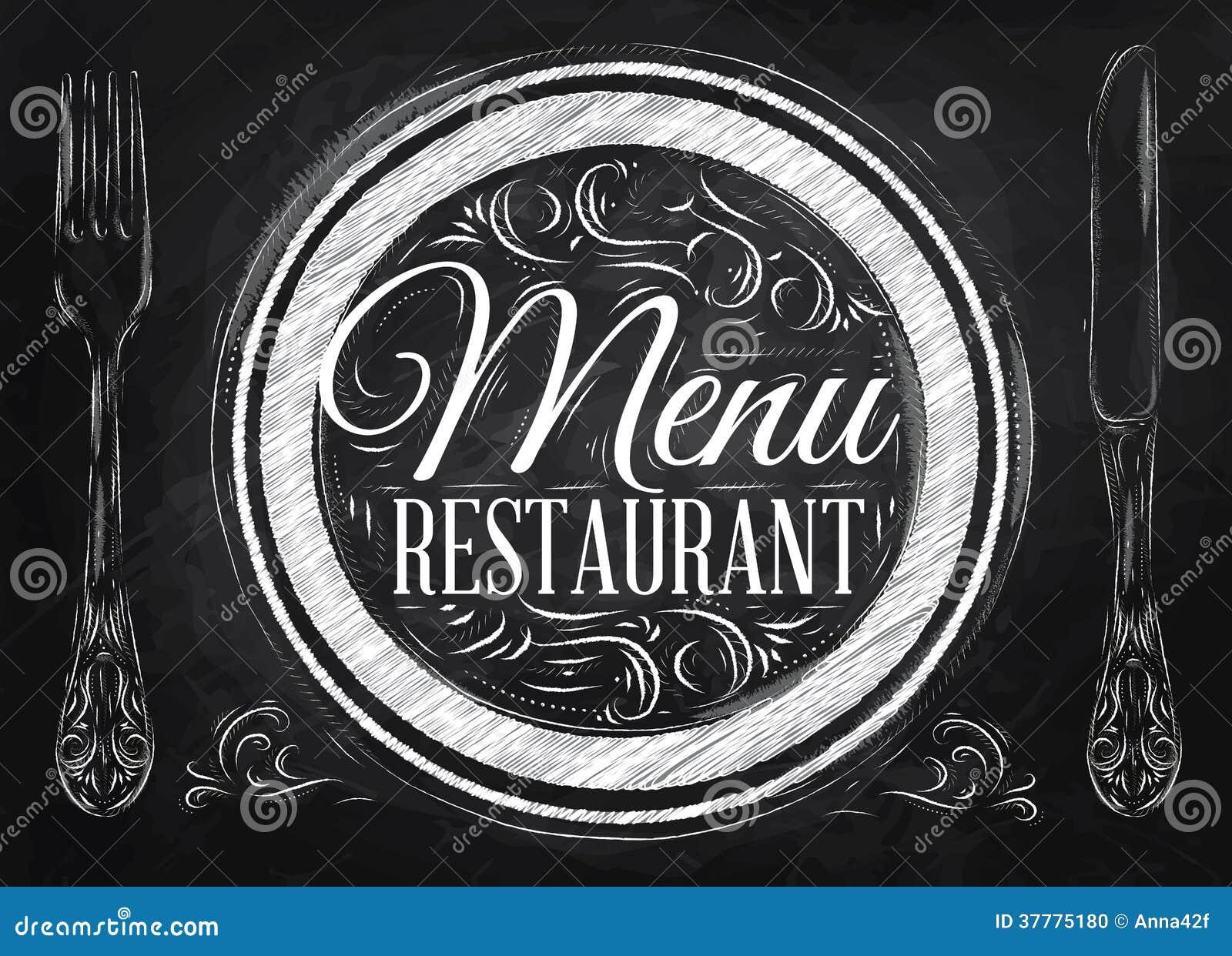 Restaurant de menu d 39 affiche craie photo stock image for Tableau noir restaurant