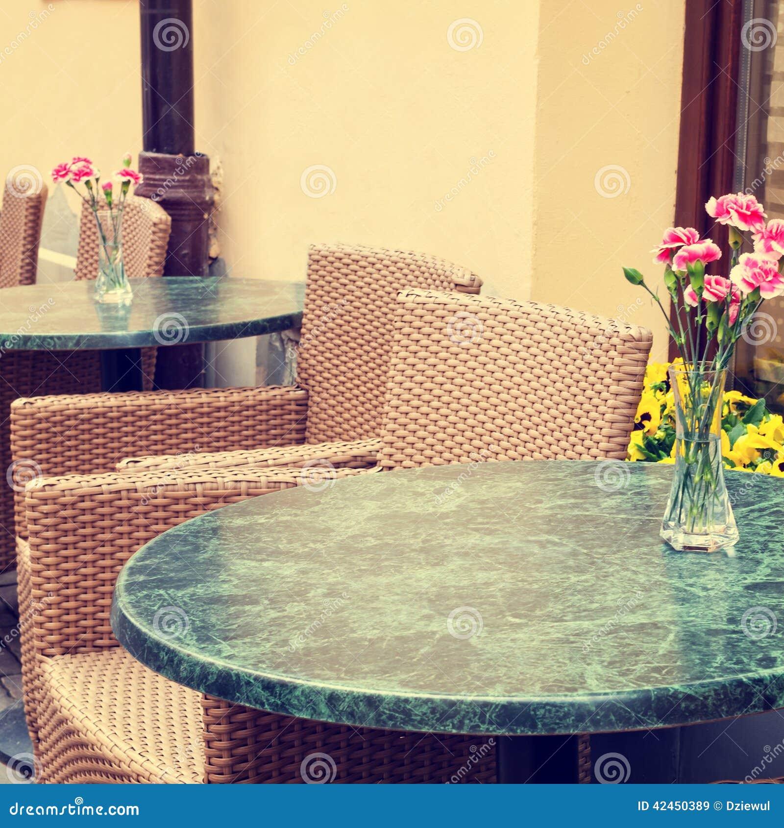 Restaurant der Weinlese im Freien