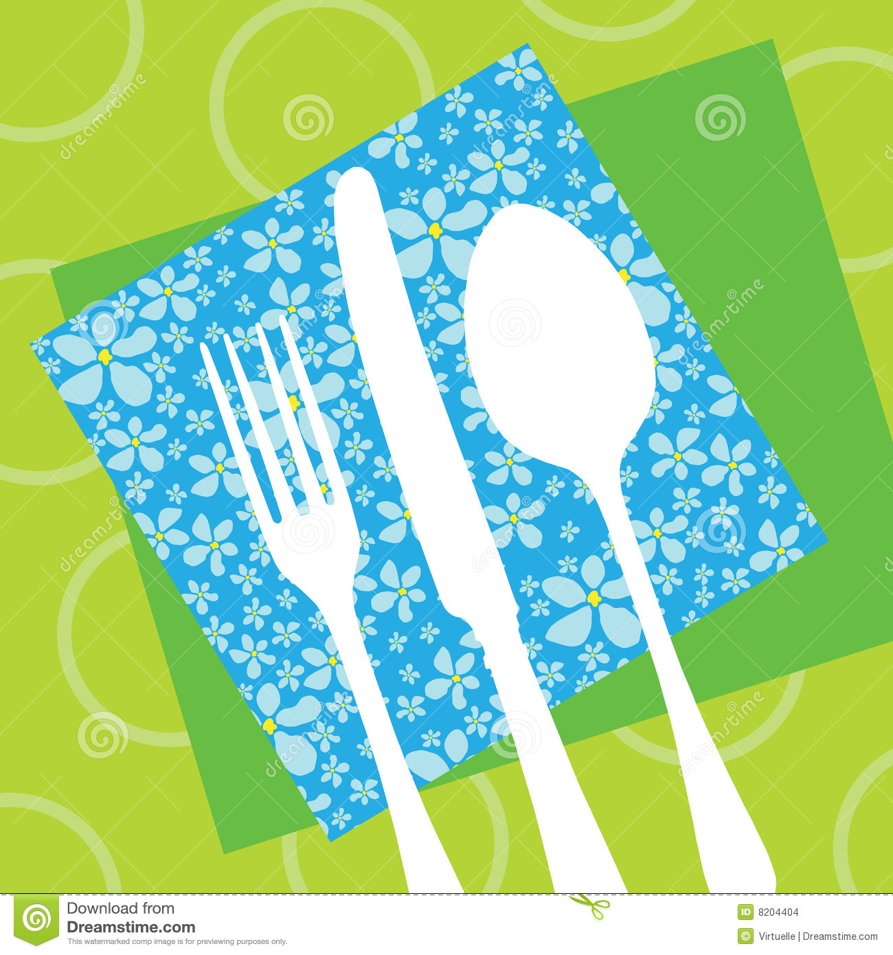 Restaurant design with cutlery silhouette stock images