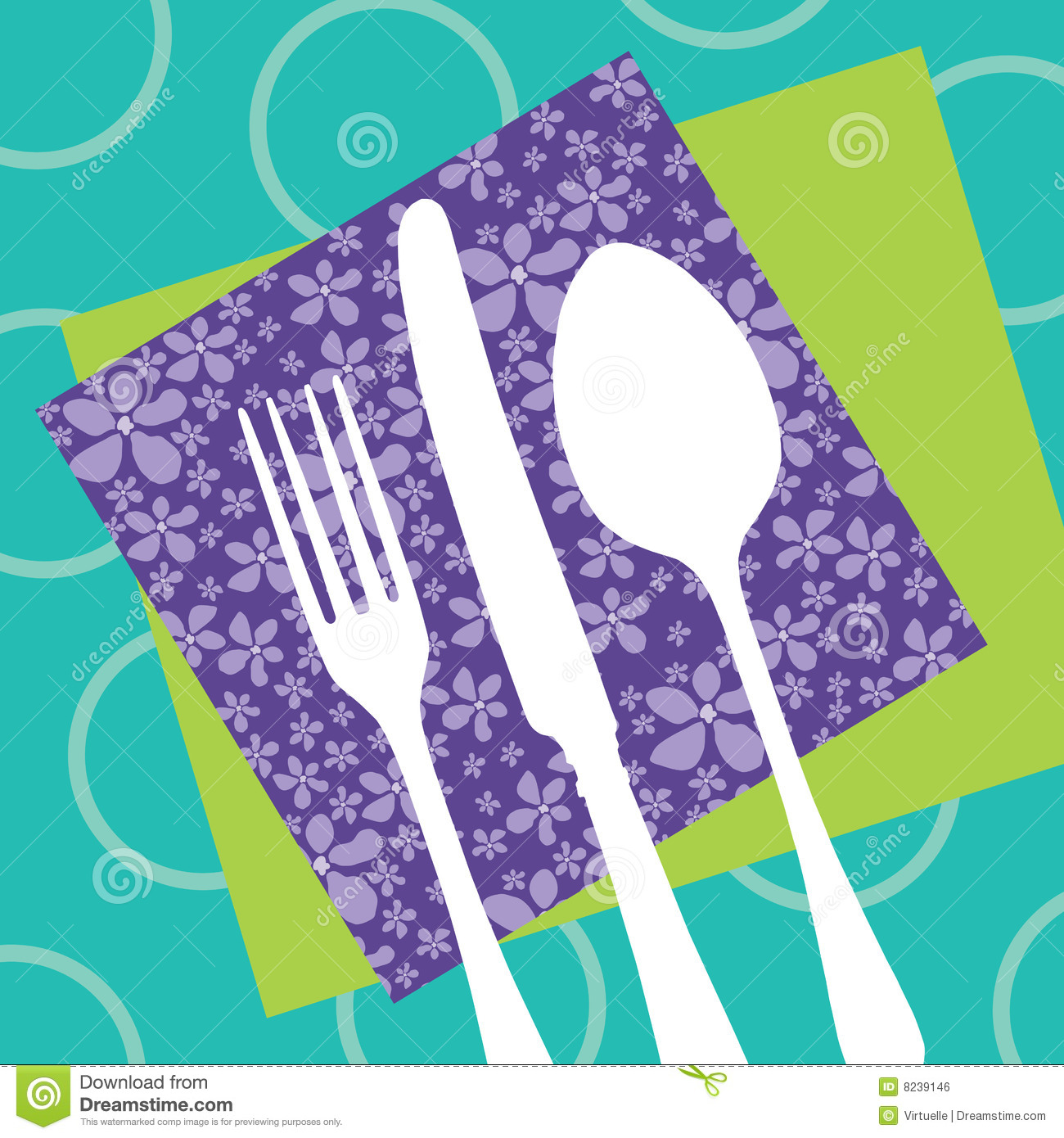 restaurant design with cutlery silhouette royalty free stock image