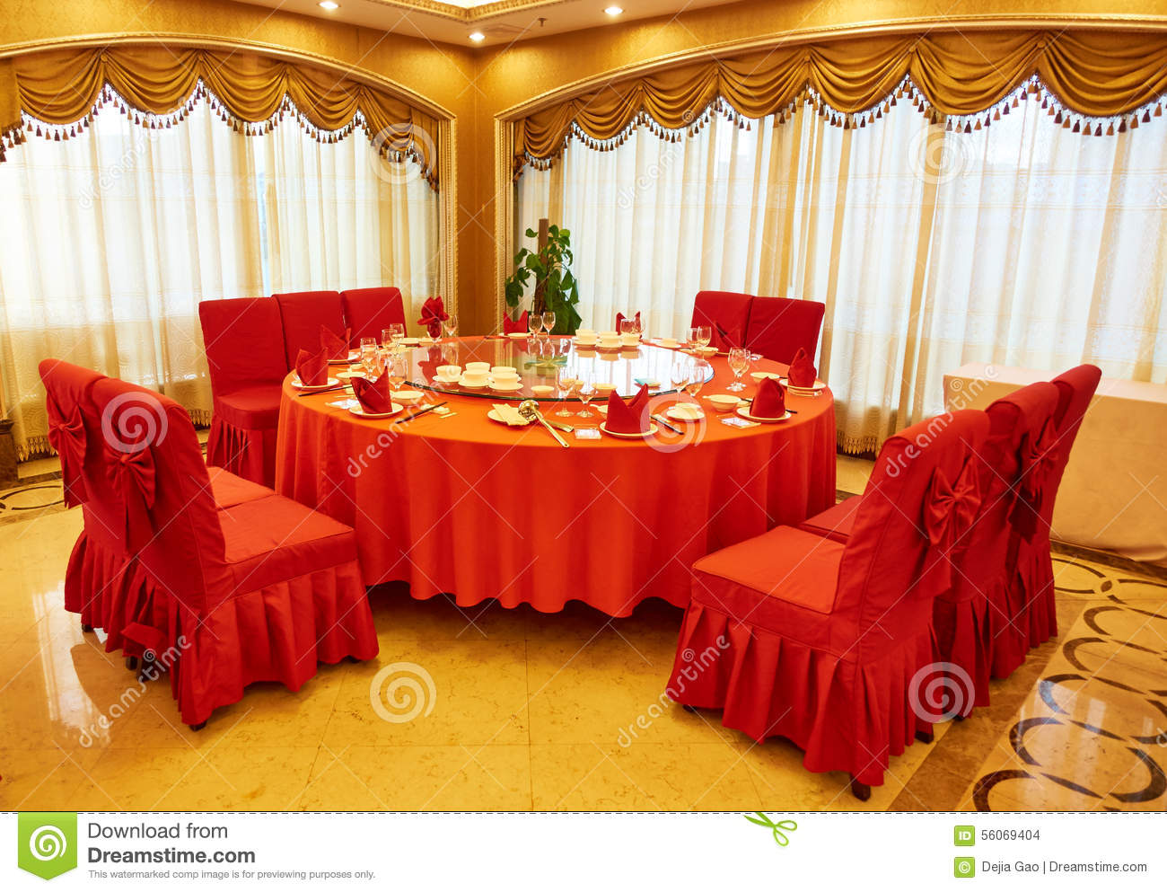 Dining room stock photo image 56069404 - Restaurant dining room chairs ...