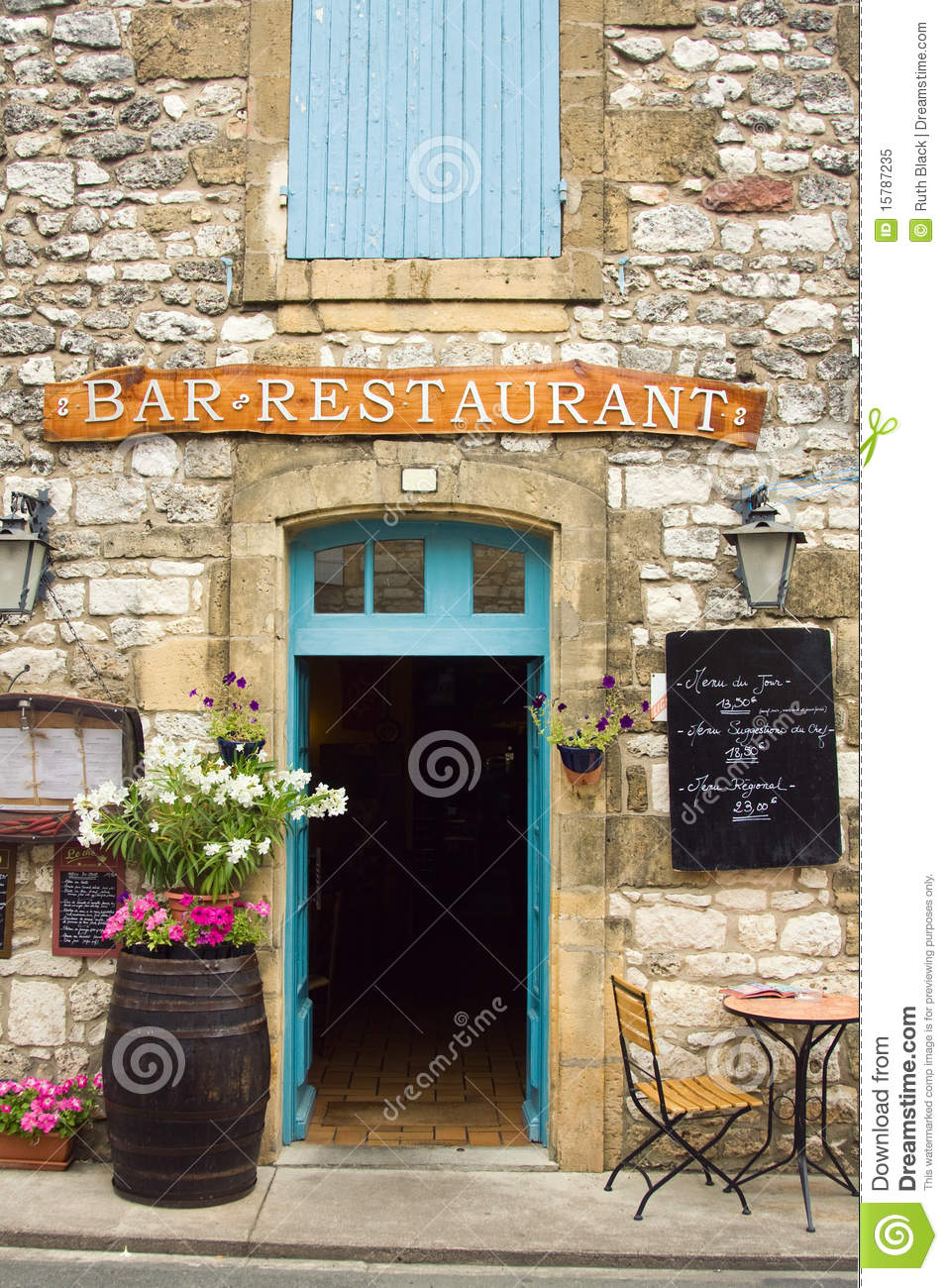 Restaurant in the Dordogne region of France