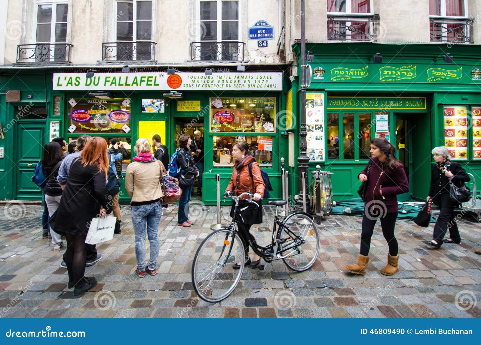 Restaurant du ¡ s du Fallafel de LÃ dans le secteur historique de Marais, Paris