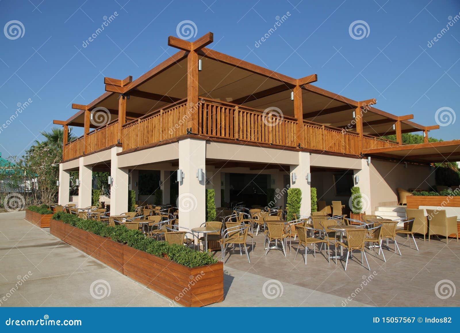 Restaurant ext rieur photographie stock libre de droits for Restaurant exterieur