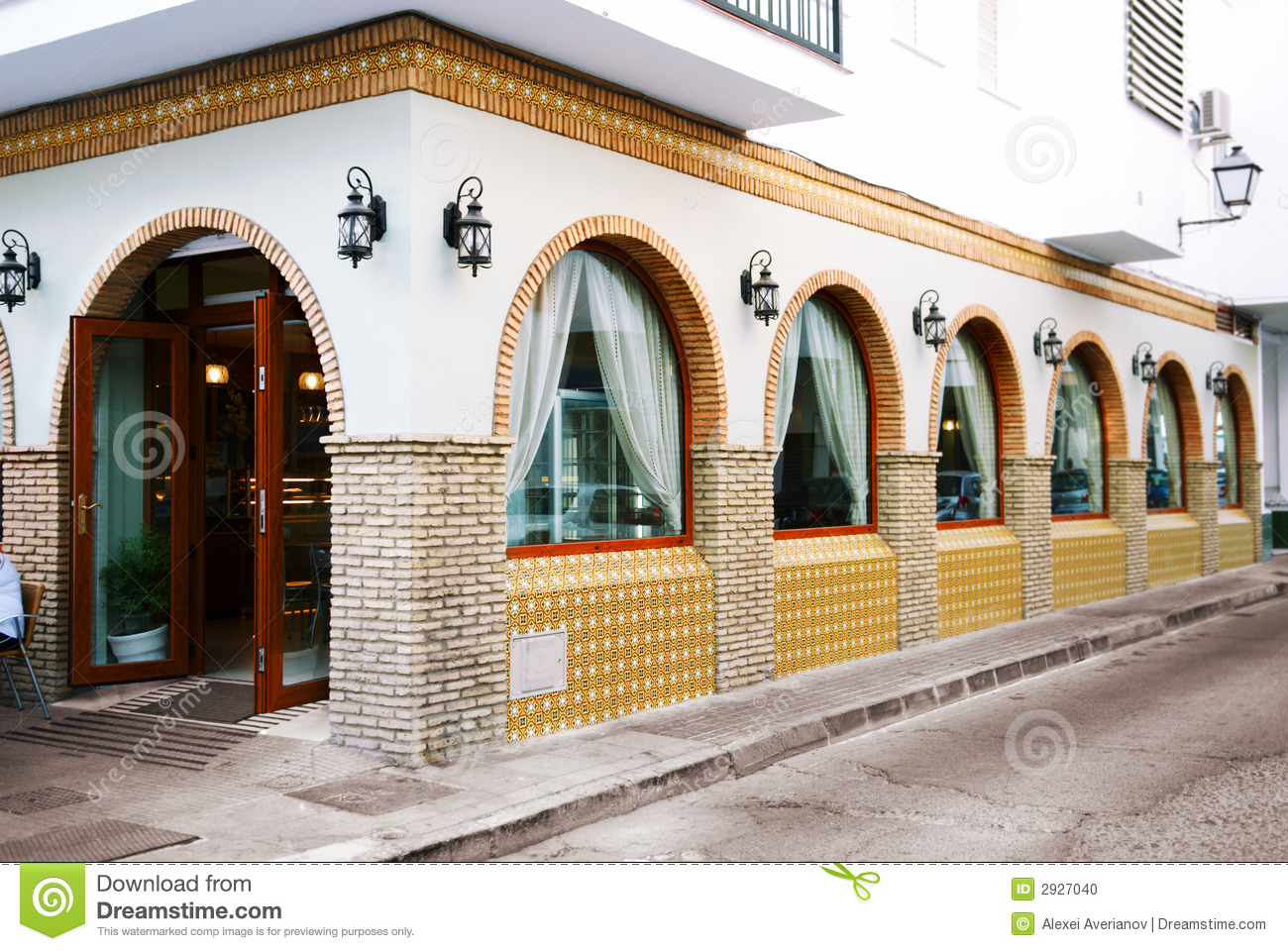 Exterior: Restaurant Exterior Stock Photo. Image Of Real, Finished