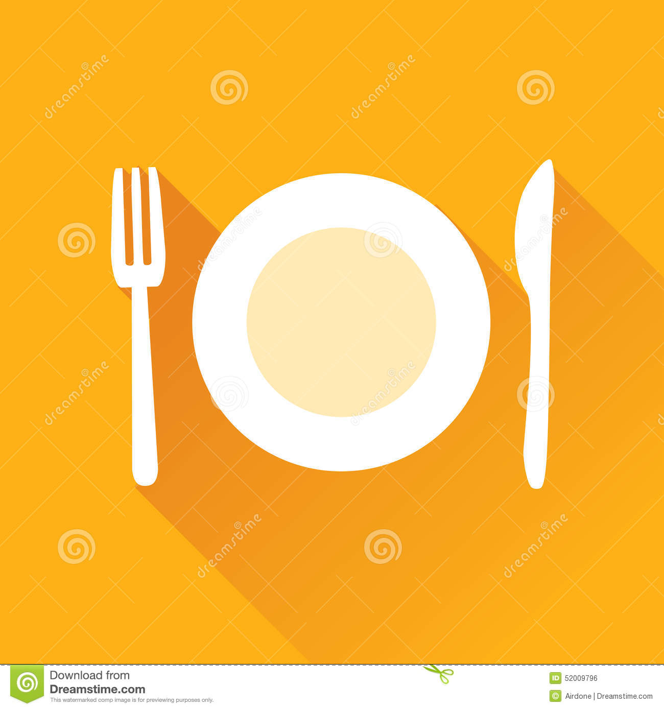 Restaurant Flat Icon Stock Vector Image 52009796 : restaurant flat icon vector illustration plate fork knife orange square background diagonal shadow 52009796 from www.dreamstime.com size 1300 x 1390 jpeg 101kB