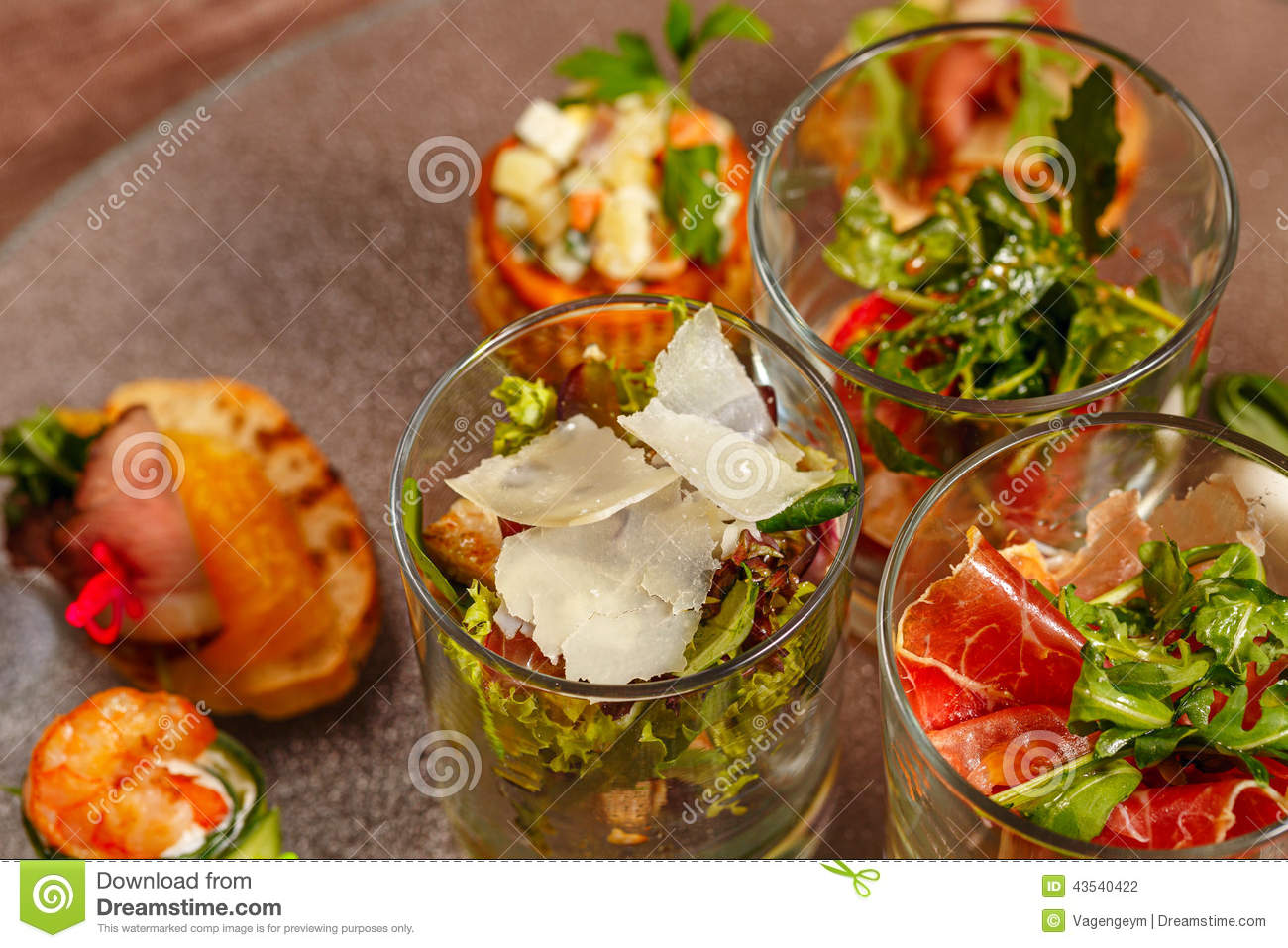 restaurant food canapes appetizers stock photo image