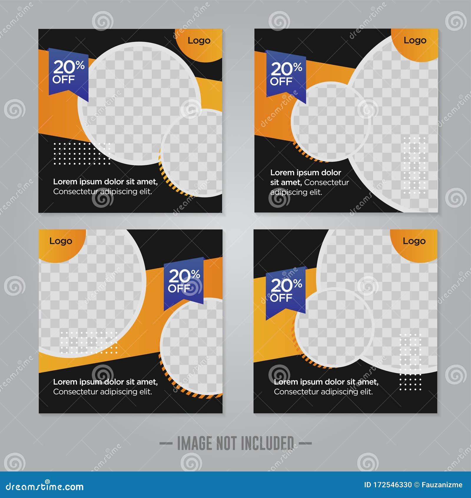 Restaurant Food Social Media Banner Post Design Template Stock Vector Illustration Of Presentation Corporate 172546330