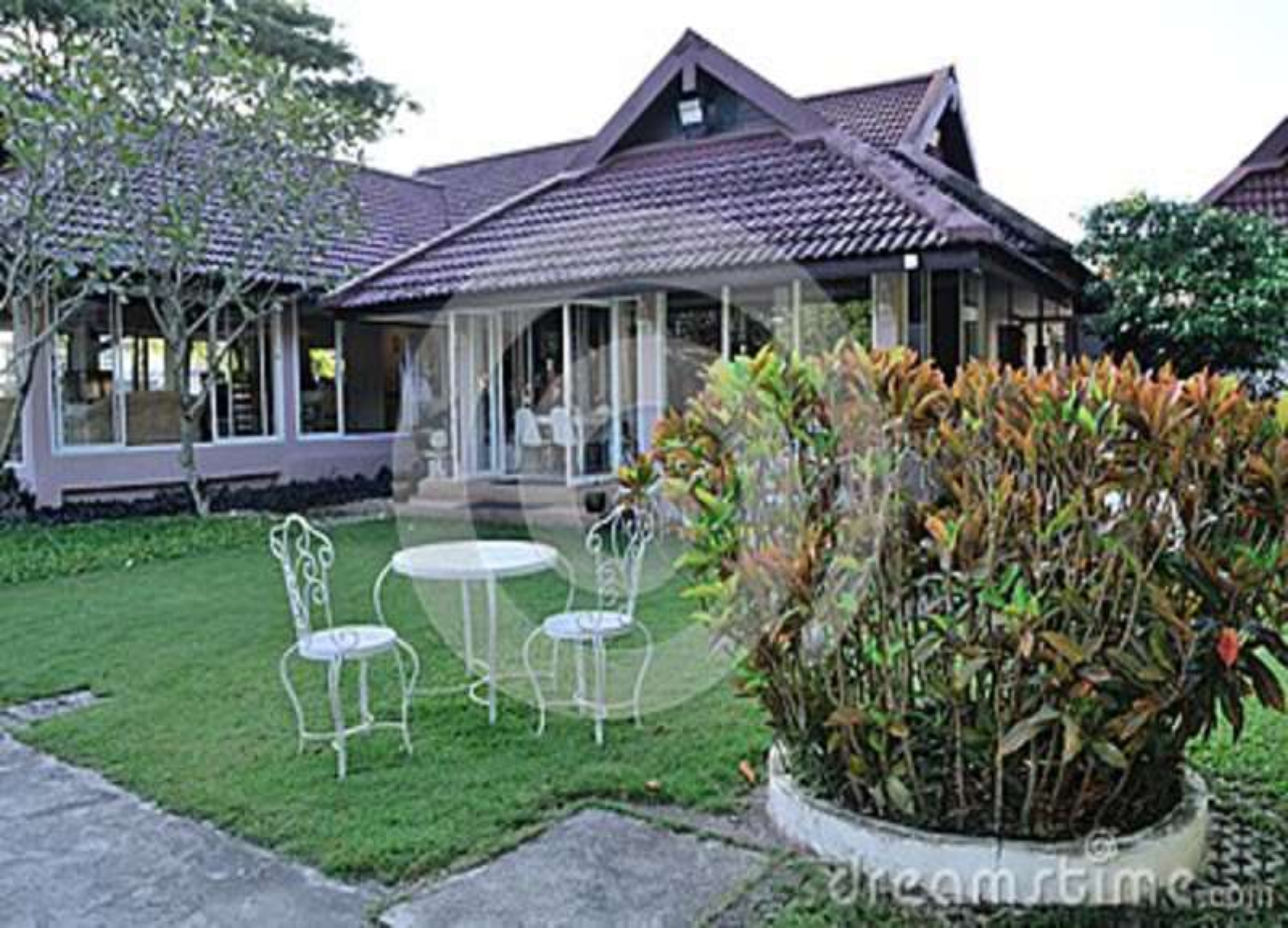 Restaurant Garden Exterior Design Editorial Photo Image Of