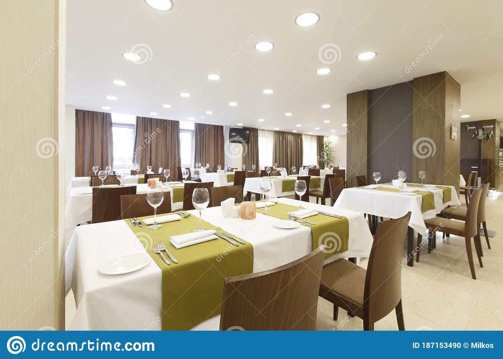 Restaurant In Hotel Modern Design And Minimalism Stock Photo Image Of Banquet Design 187153490