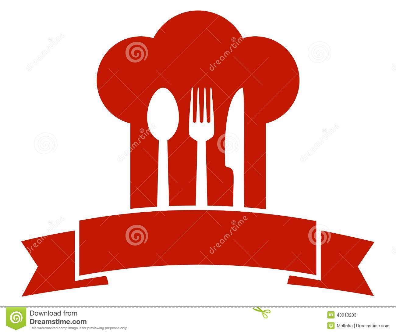 Restaurant Icon With Red Chef Hat Stock Vector Image