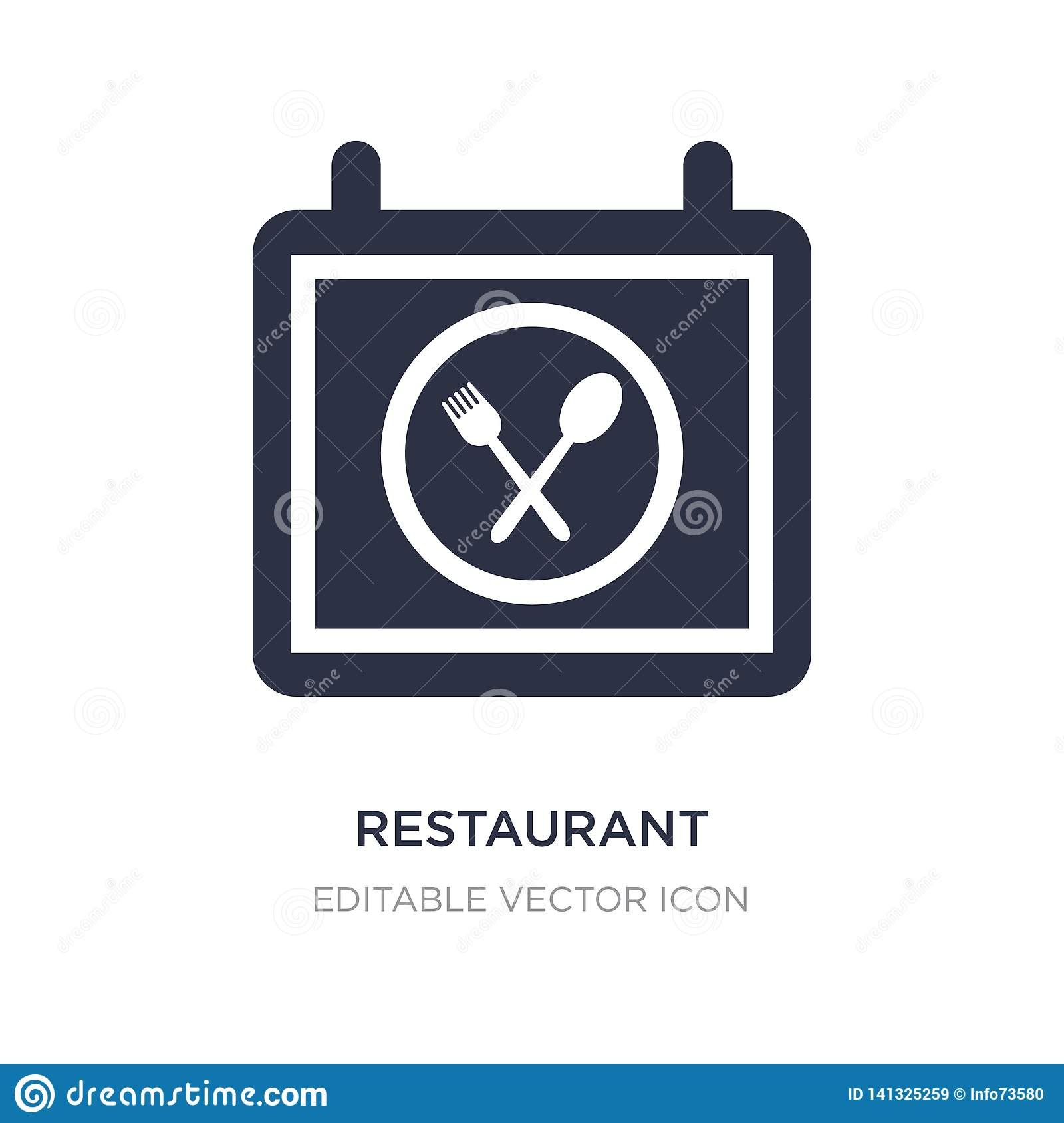 restaurant icon on white background. Simple element illustration from Food concept