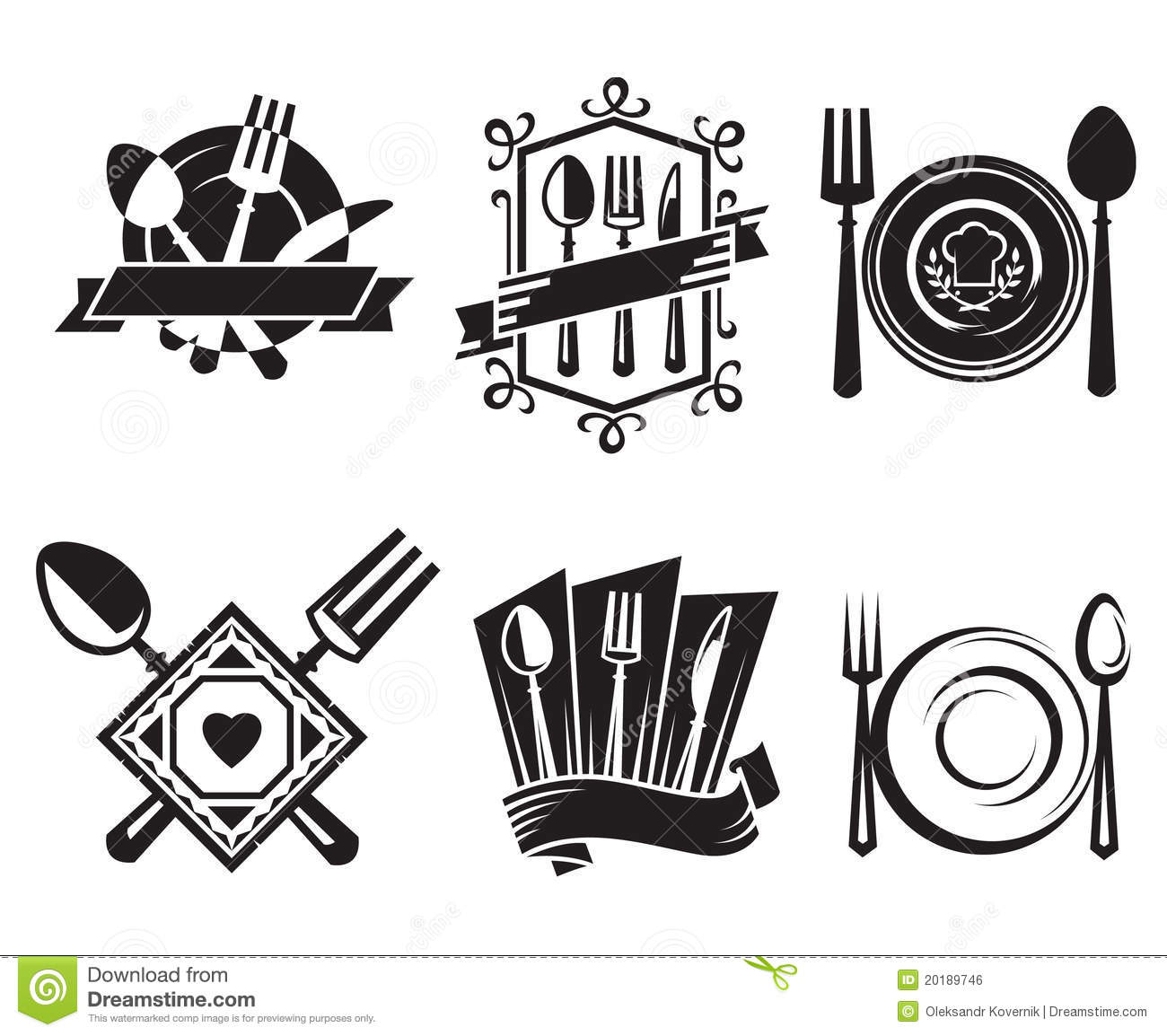 Restaurant icons royalty free stock image