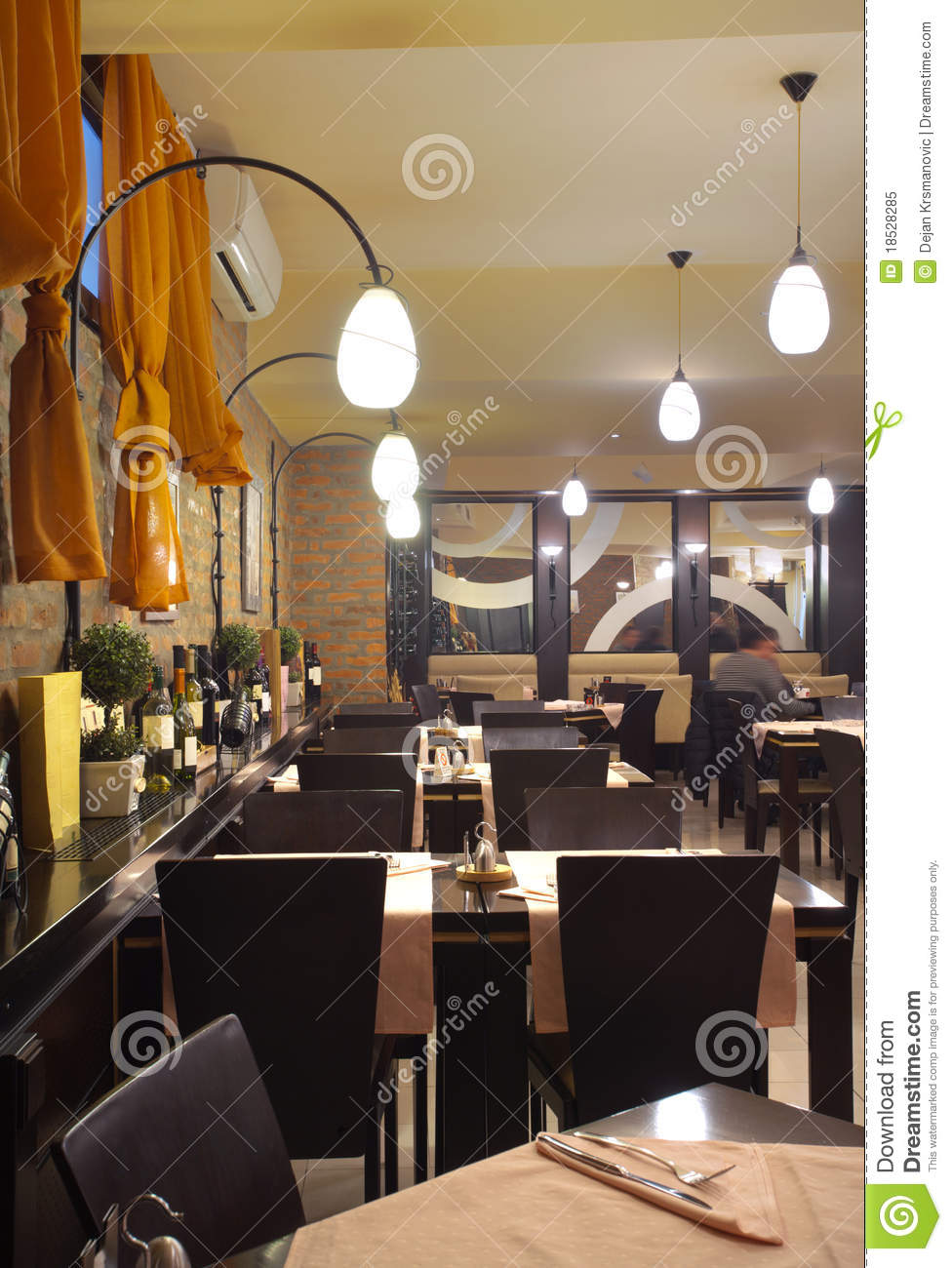 Restaurant interior royalty free stock photo image