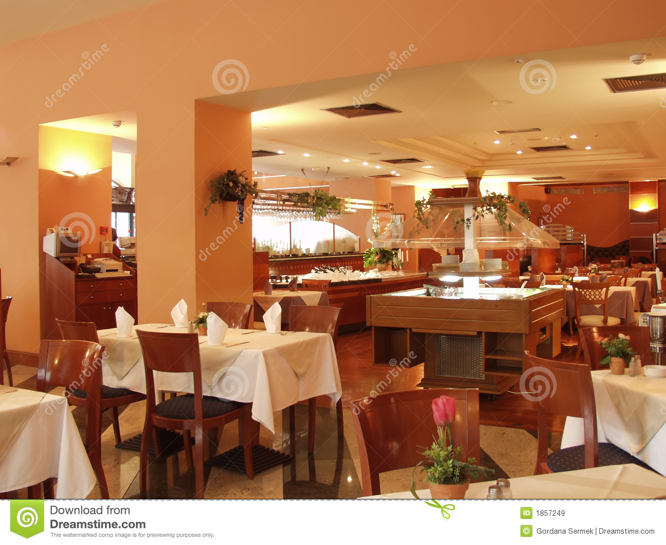 Restaurant interior royalty free stock images image