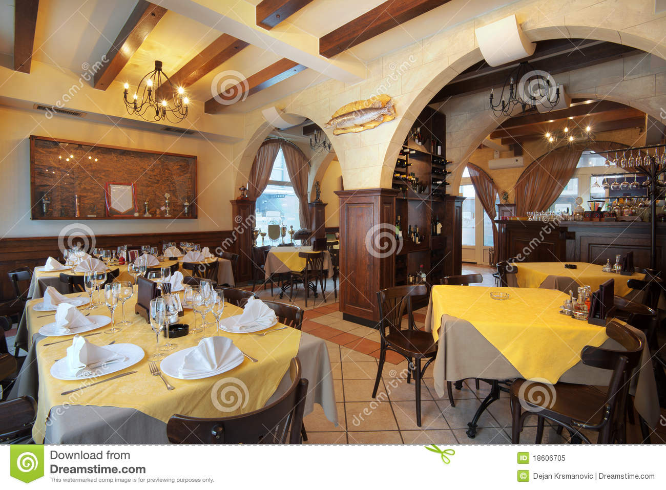 Restaurant interior stock image of lifestyles