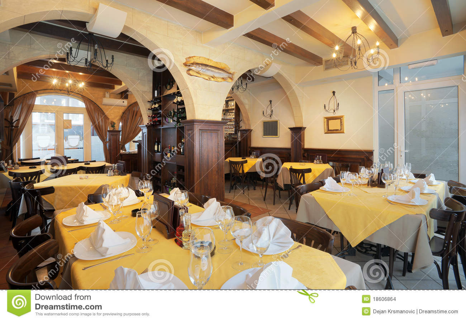 Restaurant interior stock images image