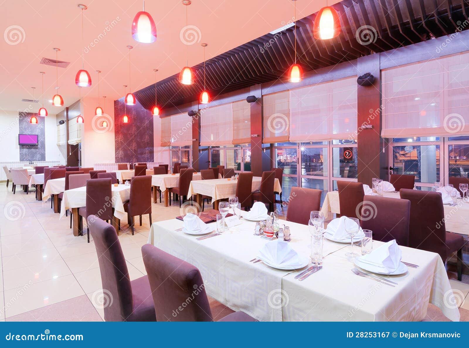 Restaurant interior royalty free stock photography image