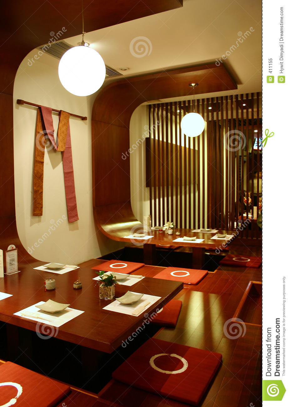 Restaurant interior stock image of calm