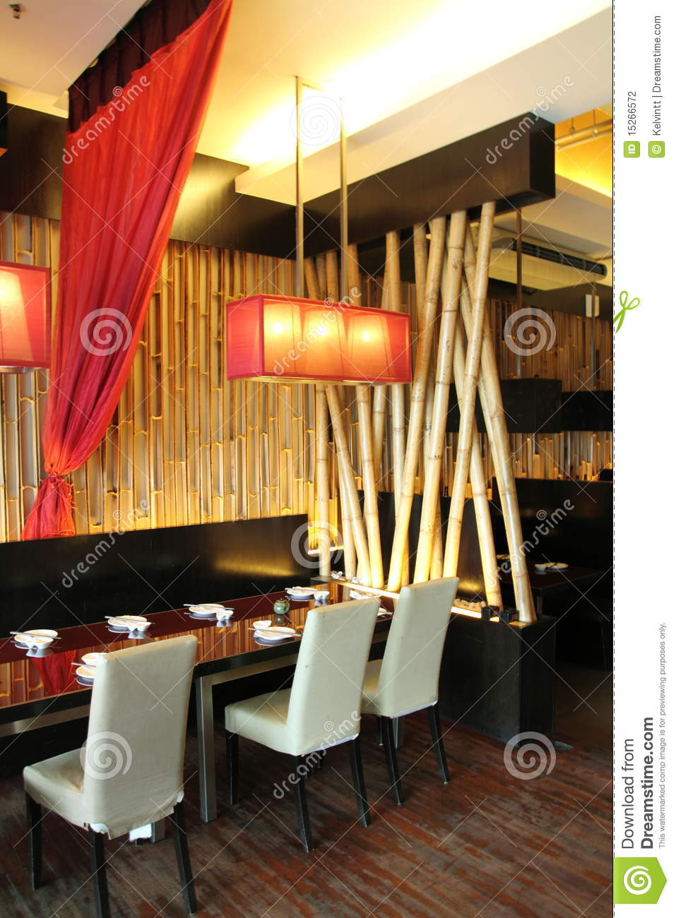 Restaurant interior design stock photography image